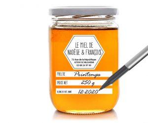 étiquette pot de miel E192-2