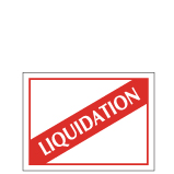 Etiquette Liquidation Réf ETF71-papier enlevable