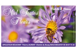 Étiquette apiculteur E1453