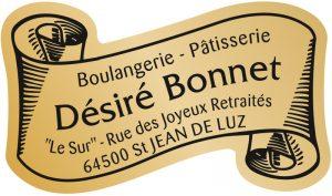 Étiquette boulanger pâtissier E1204-2