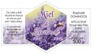Étiquette apiculteur E1807