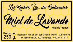 Étiquette apiculteur E138