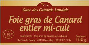 Étiquette foie gras E1173