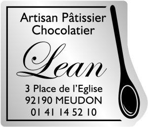 Etiquette chocolatier modèle E1474