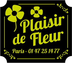 Etiquette adhésive fleuriste E1535