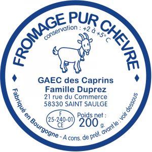 Étiquette fromager - modèle E1538