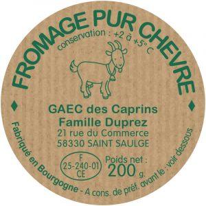 Etiquette fromage modèle E46
