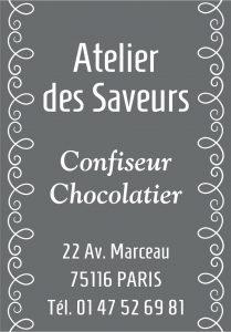 Étiquette adhésive chocolatier E984-6