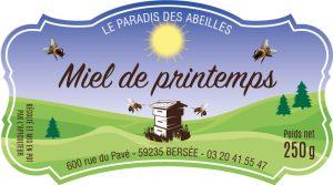 Étiquette adhésive apiculteur E1186-1