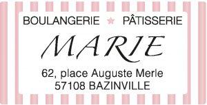 Etiquette adhésive Boulangerie Pâtisserie E213-3